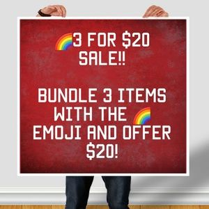 🌈3 for $20 sale